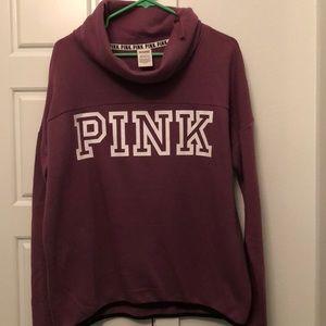 Pink pullover hoodie.